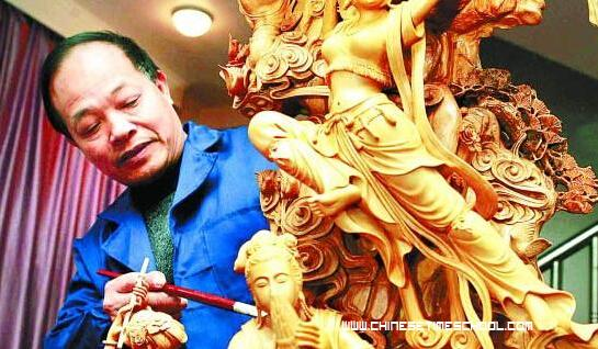 Yueqing boxwood carving chinese arts chinese culture page